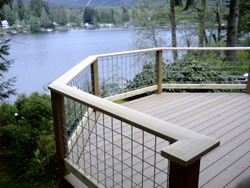 Photo of Composite and Cedar Deck - Click for a larger image