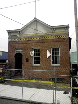 The monthly meeting place of the Whatcom Community Builders Guild was in this historic brick building. - Click for a larger image